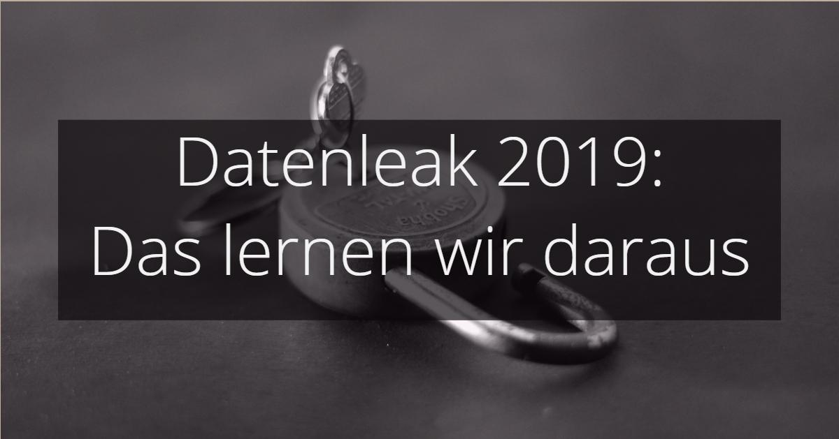 Datenleak 2019 Verschlüsselung Passwörter