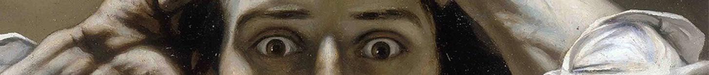Ausschnitt-Trenner: Courbet: Der Verzweifelte