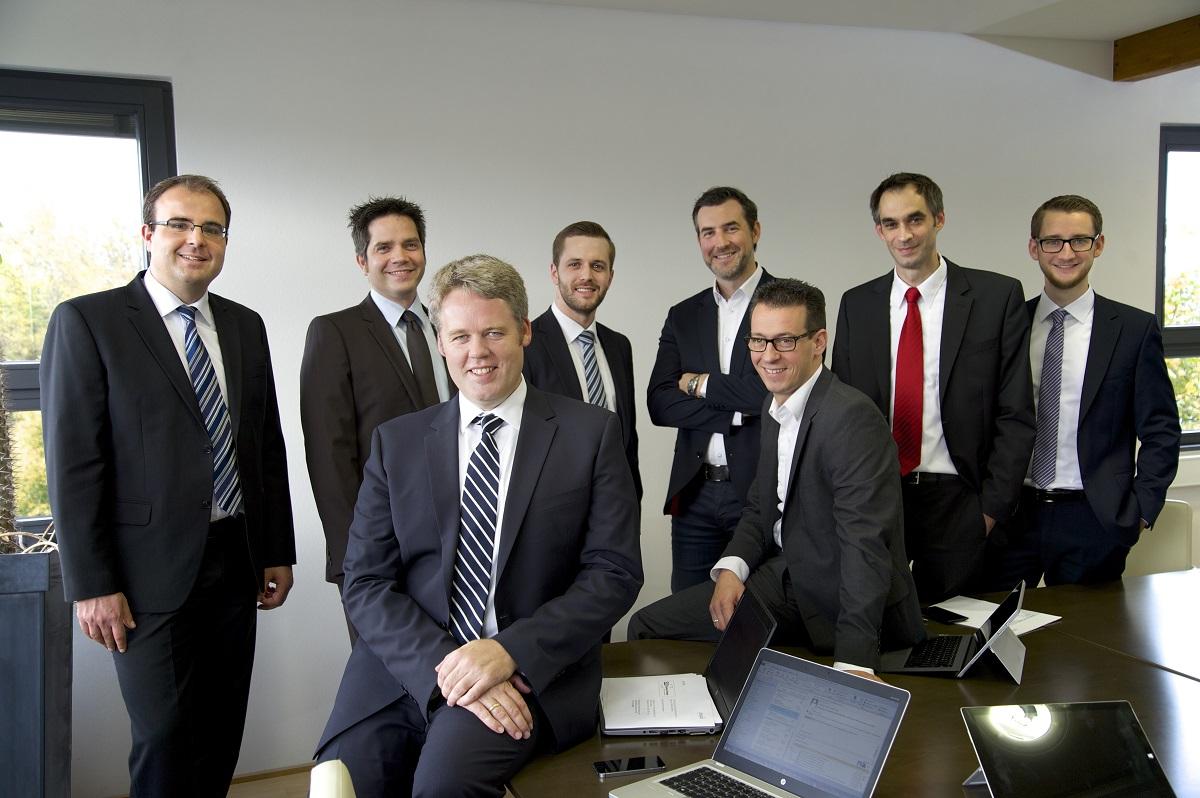 Gruppe an Mitarbeitern des IT Systemhauses synalis Bonn