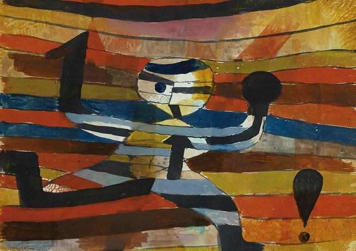 Gemälde Paul Klee Läufer als Symbol für Flucht vor Cyberangriffen