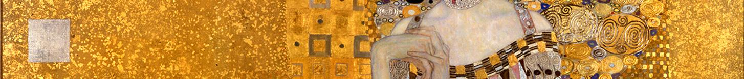 Bildausschnitt Gustav Klimt Adele