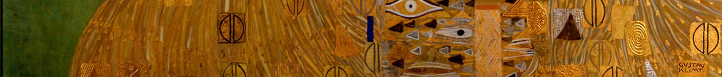Bildausschnitt Gustav Klimt, Adele