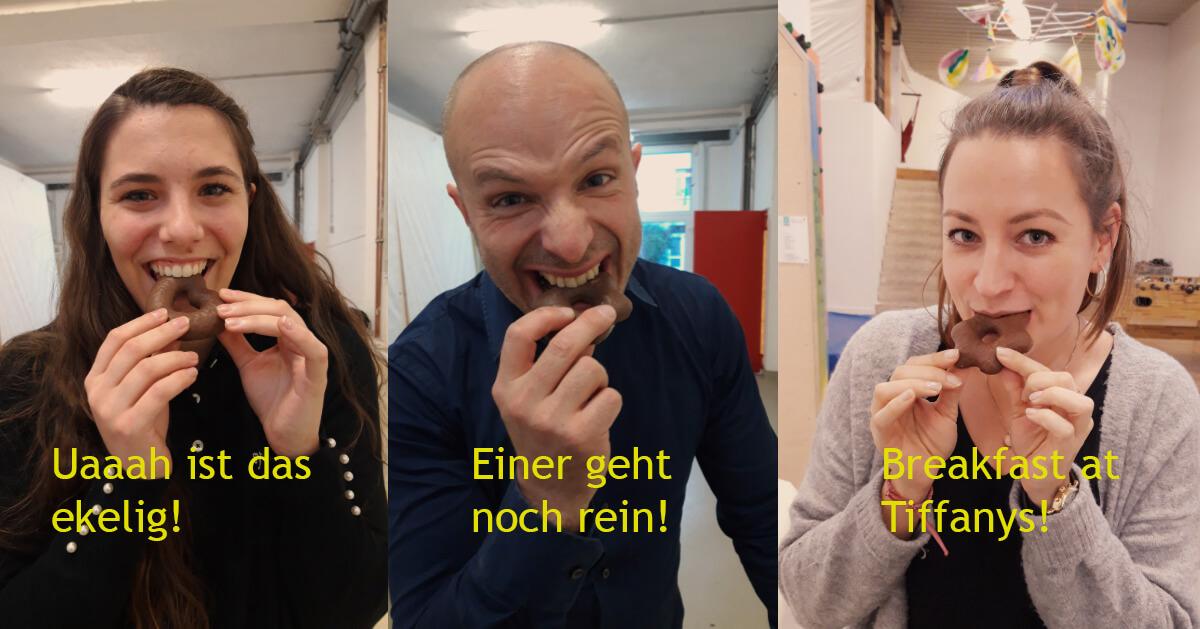 3 synalis-Kollegen beim Kindermalaktion Abenteuer Lernen e.V.