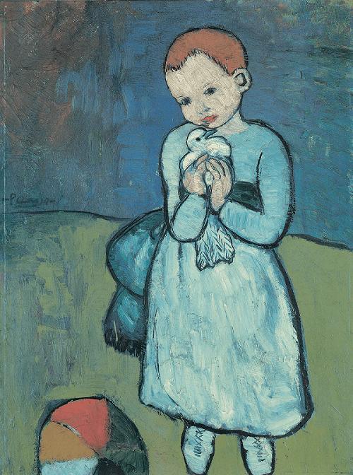 Picassos Mädchen mit Taube als Symbol für Hilfsorganisationdn und NPO