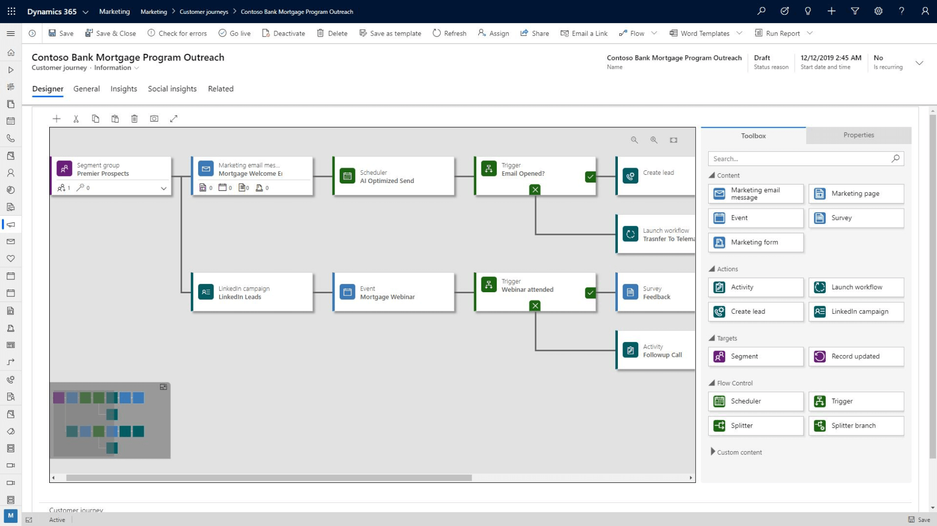 Microsoft Dynamics 365 Marketing Workflow