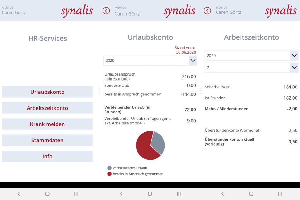 Übersicht HR Power App Arbeitszeitkonto und Urlaubskonto