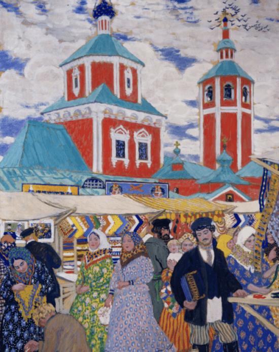 Kustodiew-Boris-Michailowitsch-Jahrmarkt