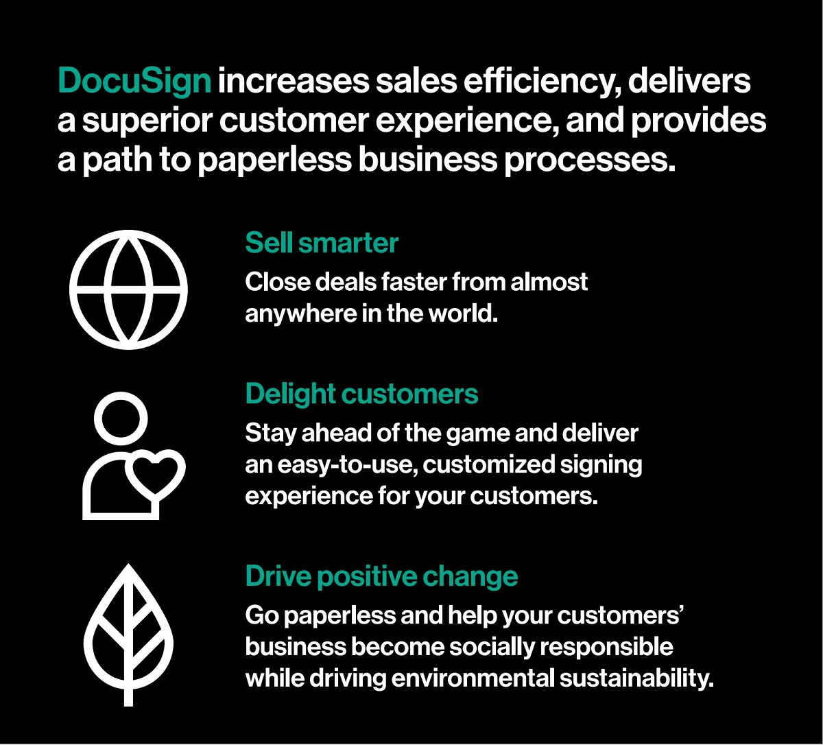 DocuSign Infografik Vorteile elektronische Signatur
