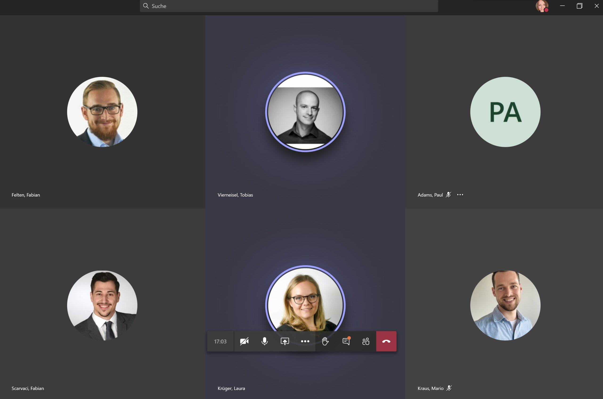 Microsoft Teams Meeting für digitale Kommunikation