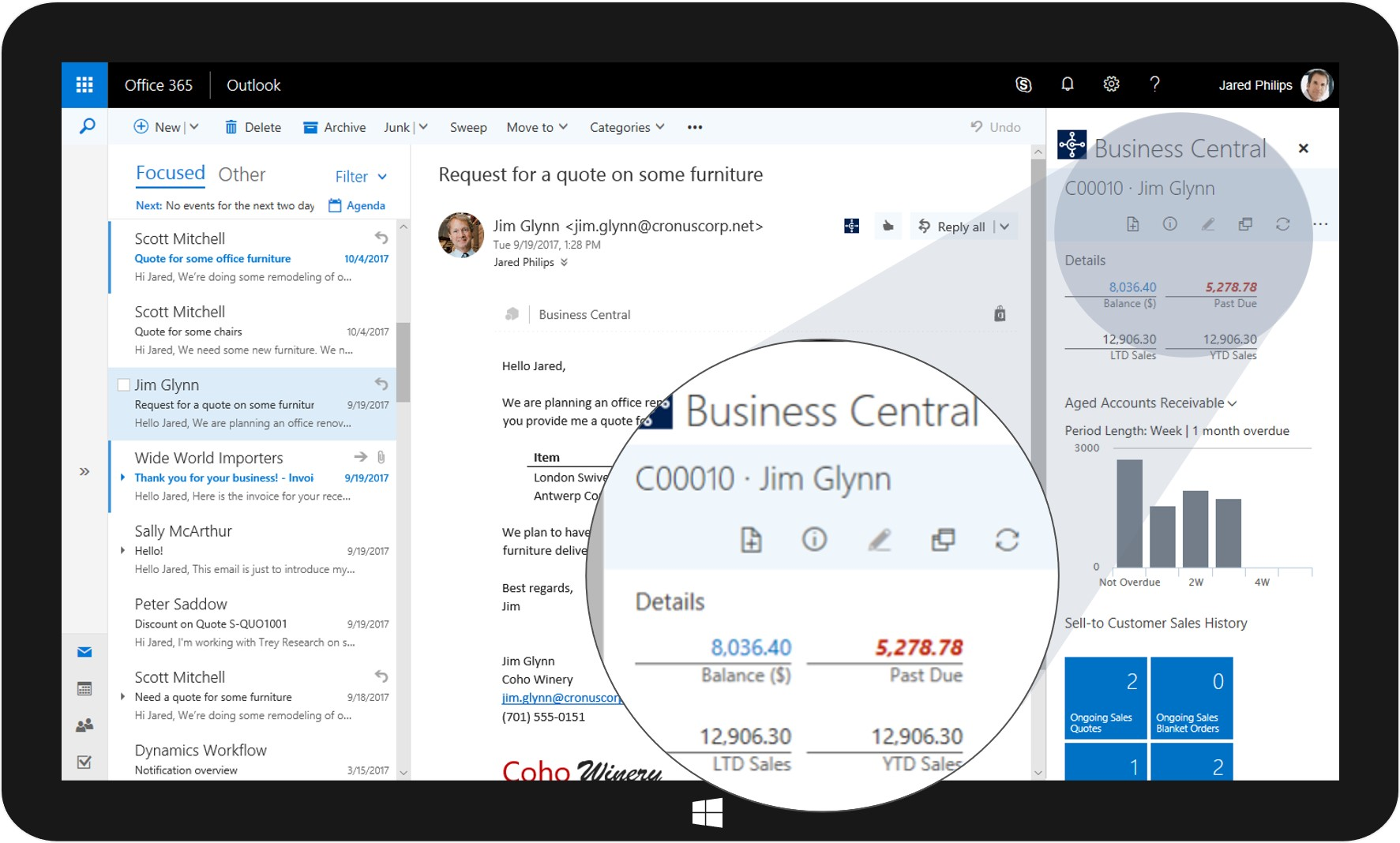 Business Central Outlook Integration