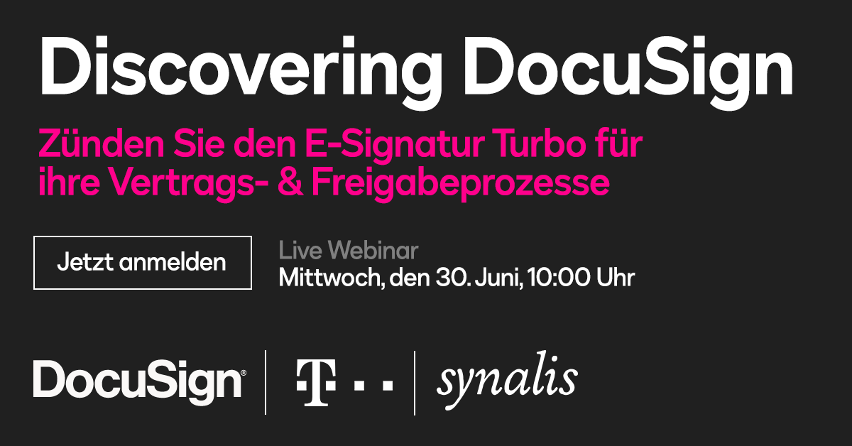 synalis Telekom Webcast Discovering DocuSign